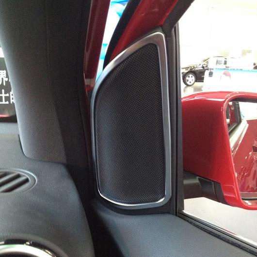 AL クロームドア スピーカー フレーム 装飾 トリムステッカー メルセデスベンツ BクラスB200 B260 2012-2016 スタイリング AL-DD-5565