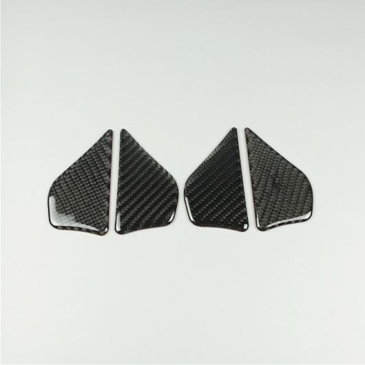 AL カーボンファイバー インナードアハンドルボウル ステッカー メルセデスベンツ E クラス W213 2016-17 インテリア Carbon Fiber Black AL-DD-7116