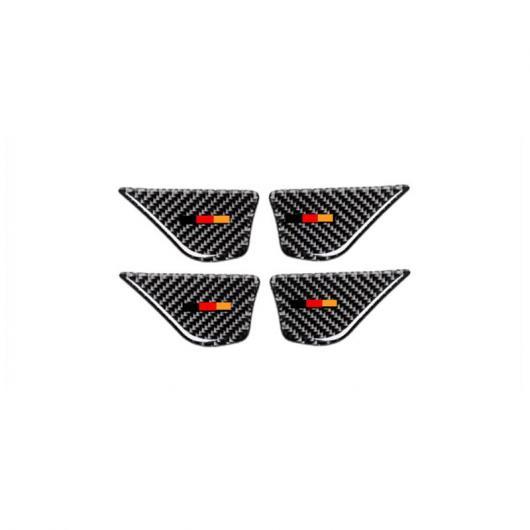 AL ドアハンドルボウル 装飾 ステッカーメルセデスベンツ C クラス W205 GLC X253 カーボンファイバー インテリア Tricolor AL-DD-7384