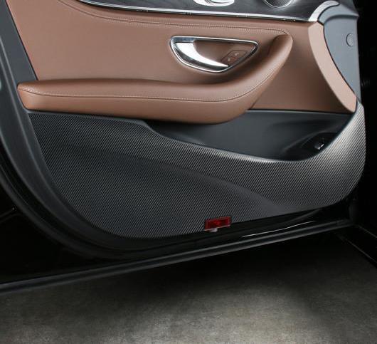 AL ドア 傷防止 保護ステッカー 装飾 メルセデスベンツ E クラス W213 2016-17 カーボンファイバー インテリア AL-DD-7011