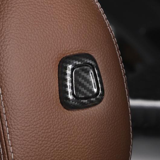 AL カーボン調 トチェンジ シートヘッドレストボタン カバー デコレーションステッカー メルセデスベンツ クラス A180 200 2019 選べる2バリエーション Silver・Carbon Fiber Color AL-DD-7171