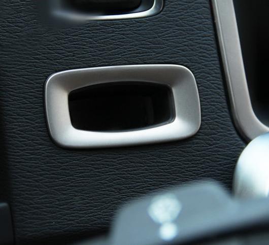 AL センター コンソールキー ホール フレーム デカールステッカー ボルボ S60 V60 ステンレス スチール インテリア 選べる2バリエーション S60・V60 AL-DD-7256
