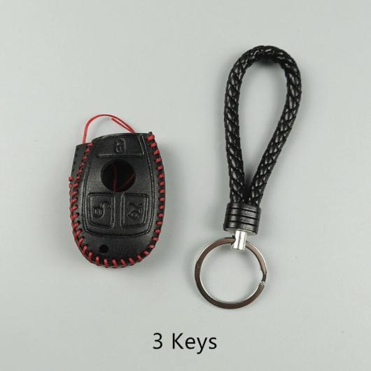 AL レザー キーバッグ保護スリーブ 装飾 メルセデスベンツ CES クラス GLK GLA CLA GLC キー ケース 選べる2バリエーション 3 keys・2 keys AL-DD-7560