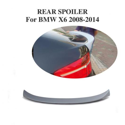 AL 車用外装パーツ リア トランク ブート リップ スポイラー レーシング ウイング 適用: BMW X6 E71 2008-2014 FRP 未塗装 グレー プライマー AL-DD-7782