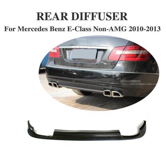 AL 車用外装パーツ リア ディフューザー リップ スポイラー 適用: メルセデスベンツ Eクラス W212 スタンダード バンパー 除く-AMG 2010-2013 PU 未塗装 ブラック プライマー AL-DD-7790