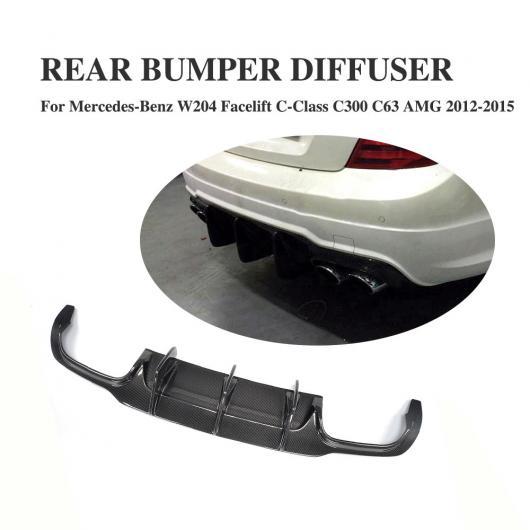 AL 車用外装パーツ カーボンファイバー リア バンパー ディフューザー リップ スポイラー 適用: ベンツ Cクラス W204 C63 AMG 4本出し 除外:ハッチバック 2ドア 4ドア 2012-14・4ドア 2009-11 AL-DD-7795