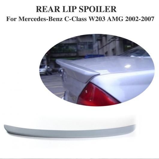 AL 車用外装パーツ リア トランク ブート リップ スポイラー ウイング ステッカー 適用: ベンツ Cクラス W203 C240 セダン 2002-2007 PU 未塗装 AL-DD-7799