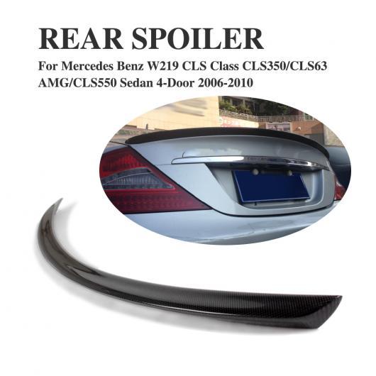 AL 車用外装パーツ カーボンファイバー リア ダック スポイラー トランク ブート リップ ウイング 適用: メルセデスベンツ CLSクラス W219 セダン 4ドア 2006-2010 AL-DD-7801