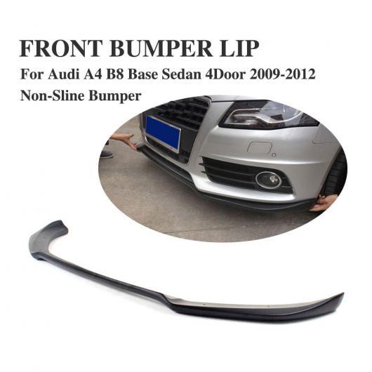 AL 車用外装パーツ FRP ブラック フロント リップ スポイラー エプロン 適用: アウディ A4 B8 セダン 4ドア 除く-Sライン バンパー 2009-2012 AL-DD-7812
