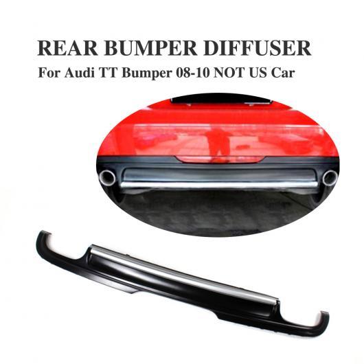 AL 車用外装パーツ PU マット ブラック リア バンパー ディフューザー リップ スポイラー 適用: アウディ TT 8J MK2 除く-Sライン 2008-2010 除く US CAR AL-DD-7832