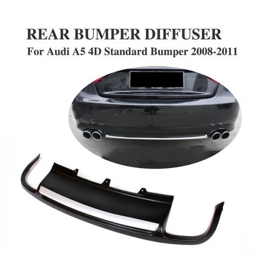 AL 車用外装パーツ PU ブラック リア リップ ディフューザー スポイラー 適用: アウディ A5 スポーツバック 4 ドア スタンダード 2008-2011 除く-Sライン AL-DD-7838