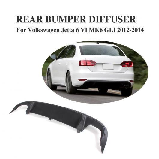 AL 車用外装パーツ リア バンパー ディフューザー スポイラー リップ 適用: フォルクスワーゲン VW ジェッタ 6 MK6 GLI 2012-2014 ABS ブラック AL-DD-7852