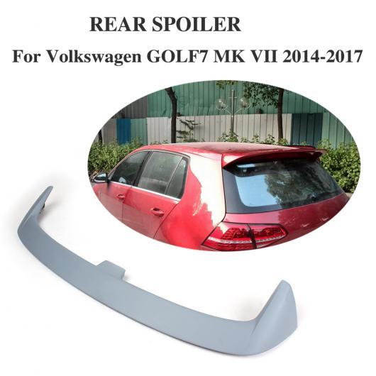 AL 車用外装パーツ リア ルーフ ブート リップ スポイラー ウイング 適用: フォルクスワーゲン VW ゴルフ 7 VII MK7 スタンダード 2014-2017 FRP 未塗装 グレー AL-DD-7871