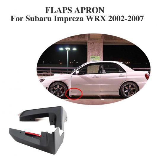 AL 車用外装パーツ フロント サイド スカート スプリッター エプロン フラップ ストレーク カバー 適用: スバル インプレッサ WRX 2002-2007 PU 未塗装 ブラック AL-DD-7894