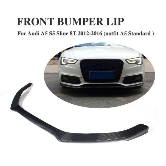 AL 車用外装パーツ カーボンファイバー フロント バンパー リップ スポイラー エプロン 適用: アウディ A5 S5 バンパー 2012-2016 AL-DD-7917