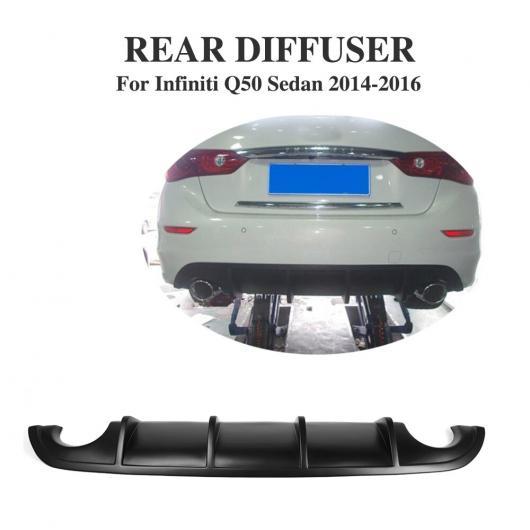 AL 車用外装パーツ PU ブラック プライマー バンパー リップ ディフューザー 適用: インフィニティ Q50 セダン スポーツ セダン 2014-2017 AL-DD-7922