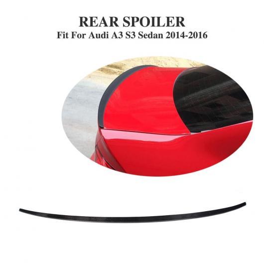 AL 車用外装パーツ カーボンファイバー リア トランク ブート ウイング リップ スポイラー 適用: アウディ A3 S3 4ドア 2014-2016 AL-DD-7941