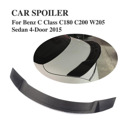 AL 車用外装パーツ リアル カーボン リア スポイラー 適用: メルセデスベンツ W205 Cクラス セダン C43 C63 C180 C200 C250 C300 C350 C400 C450 2015-2018 AL-DD-7997