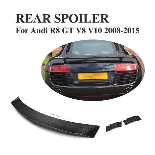 AL 車用外装パーツ カーボンファイバー リア レース スポイラー 適用: アウディ R8 GT V8 V10 2008-2015 ブラック テール トランク ブート ハイ ウイング AL-DD-8024
