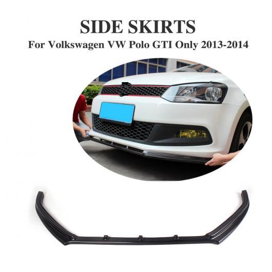 AL 車用外装パーツ カーボンファイバー フロント バンパー リップ スポイラー 適用: フォルクスワーゲン VW ポロ GTI ハッチバック 2013-2014 AL-DD-8063