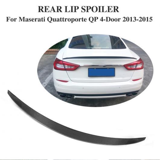 AL 車用外装パーツ カーボンファイバー リア スポイラー トランク ブート リップ ウイング 適用: マセラティ クアトロポルテ QP 4ドア 2013 2014 2015 エグゼクティブ セダン AL-DD-8093