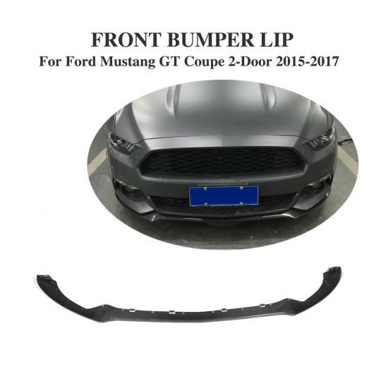 AL 車用外装パーツ フロント バンパー リップ スポイラー チン カーボンファイバー 適用: フォード マスタング クーペ 2ドア 2015-2017 除く シェルビー GT350 ヘッド リップ 保護 AL-DD-8128