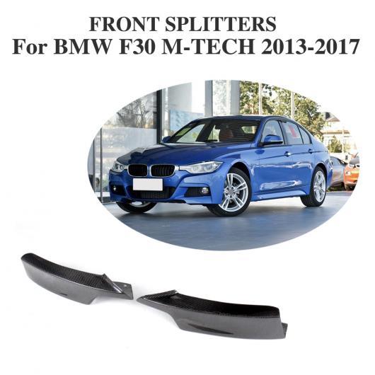 AL 車用外装パーツ カーボンファイバー フロント バンパー スプリッタ エプロン フラップ 適用: BMW 3 シリーズ F30 320i 325i 328i 335i Mスポーツ セダン 4ドア 2013-2017 AL-DD-8222