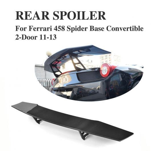 AL 車用外装パーツ リア トランク ハイ テール スポイラー ウイング カーボンファイバー 適用: フェラーリ 458 2ドア 2011-2013 AL-DD-8233