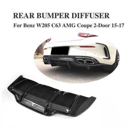 AL 車用外装パーツ カーボンファイバー リア バンパー レース ディフューザー リップ スポイラー 適用: メルセデスベンツ W205 C205 C63 AMG クーペ 2ドア 2015-2017 コンバーチブル AL-DD-8241