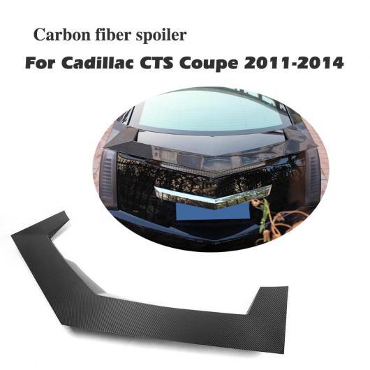 AL 車用外装パーツ カーボンファイバー リア スポイラー トランク ブート リップ ステッカー ウイング 適用: キャデラック CTS クーペ 2ドア 2011-2014 AL-DD-8271