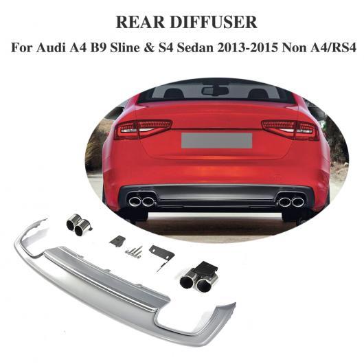 AL 車用外装パーツ PP リア ディフューザー リップ バンパー プロテクター エキゾースト マフラー 適用: アウディ A4 B9 Sライン S4 セダン 4 ドア 除く A4 RS4 2013-2015 AL-DD-8297