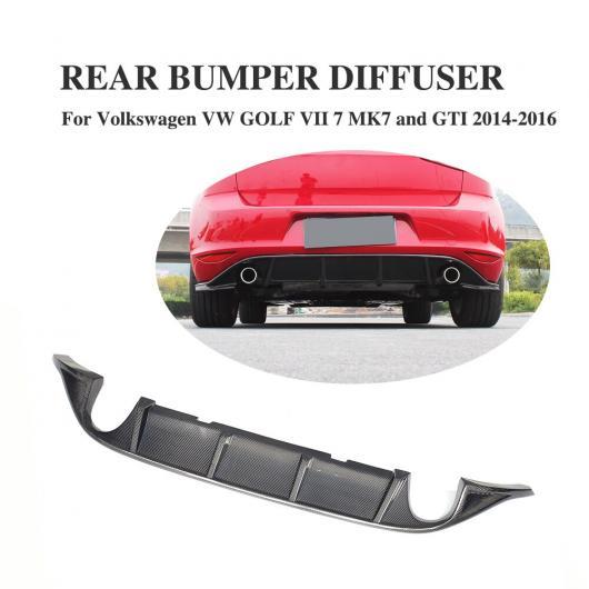 AL カーボンファイバー リア バンパー リップ ディフューザー スポイラー 適用:フォルクスワーゲン VW ゴルフ 7 VII MK7 スタンダード GTI 2004-2016 デュアル エキゾースト RT スタイル・JC スタイル AL-DD-8354