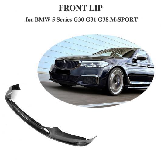 AL 車用外装パーツ カーボンファイバー フロント バンパー リップ チン プロテクター エプロン 適用: BMW 5 シリーズ G30 G31 G38 M-sport 2017-2019 AL-DD-8380