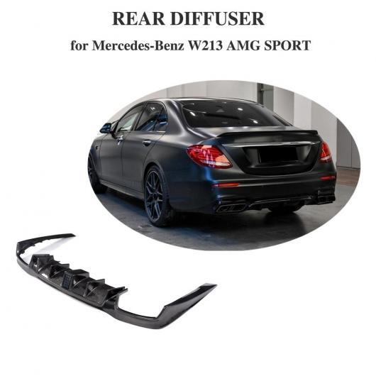 AL 車用外装パーツ リア バンパー リップ スポイラー 適用: ベンツ E250 E350 E400 E43AMG E63AMG 2016-2018 カーボンファイバー ディフューザー AL-DD-8427
