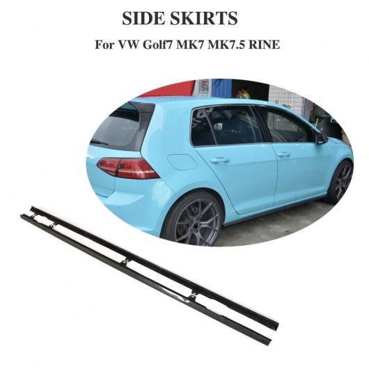 AL 車用外装パーツ カーボンファイバー サイド スカート 適用: フォルクスワーゲン ゴルフ 7.5 R-LINE R 2014-2018 バンパー リップ ガード エプロン AL-DD-8444
