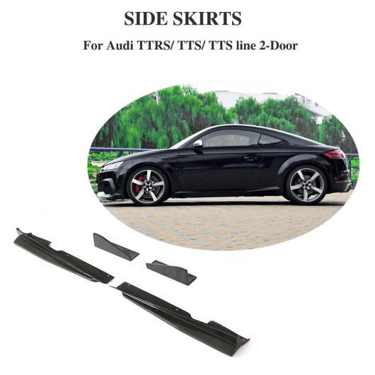 AL 車用外装パーツ 適用: アウディ TTS TT RS TTS ライン 2015-2018 カーボンファイバー サイド スカート バンパー リップ エプロン 4個セット AL-DD-8458
