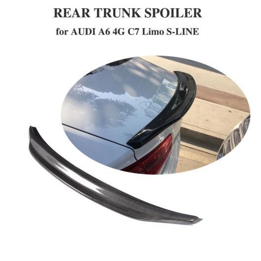 AL 車用外装パーツ カーボンファイバー 適用: アウディ A6 C7 2012-2018 リア トランク スポイラー ブート ウイング リップ AL-DD-8464