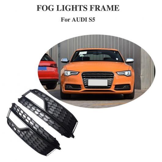 AL 車用外装パーツ メッシュ グリッド フロント フォグ ライト グリル 適用: アウディ A5 S5 Sライン スポーツ バンパー NO スタンダード フォグ ランプ ABS グリッド ディープ グリーン・ブラック AL-DD-8486