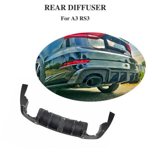 AL 車用外装パーツ カーボン ディフューザー 適用: アウディ RS3 セダン 4ドア 2017 2018 リア バンパー リップ ディフューザー スポイラー AL-DD-8505