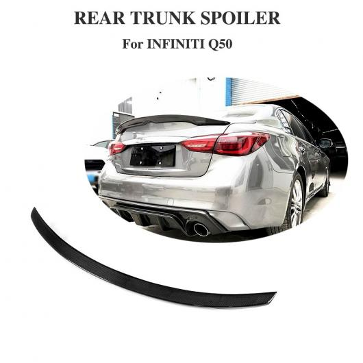AL 車用外装パーツ リアル カーボンファイバー トランク スポイラー トランク メンバー ウイング リア スポイラー ウイング ウイングS 適用: インフィニティ Q50 Q50S 2018-2019 AL-DD-8521