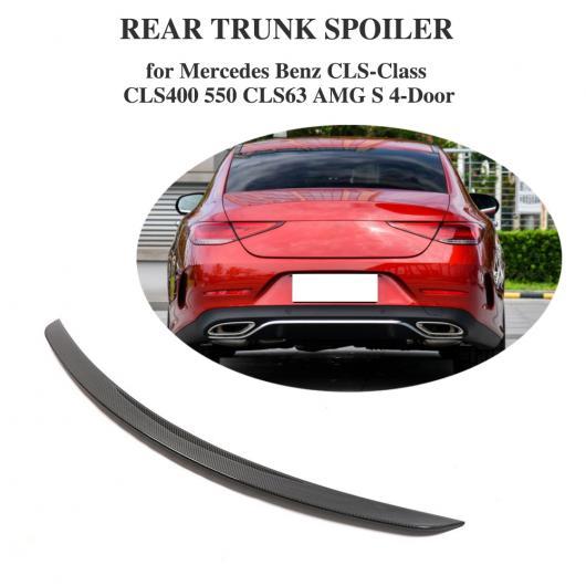 AL 車用外装パーツ リアル カーボンファイバー リア トランク スポイラー 適用: メルセデスベンツ CLSクラス CLS400 CLS550 CLS63 AMG S 4ドア コンバーチブル 2018 2019 AL-DD-8545