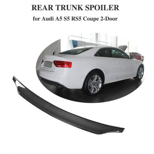 AL 車用外装パーツ カーボンファイバー リア トランク スポイラー ブート リップ ウイング 適用: A5 S5 Sライン RS5 2008-2016 クーペ AL-DD-8572
