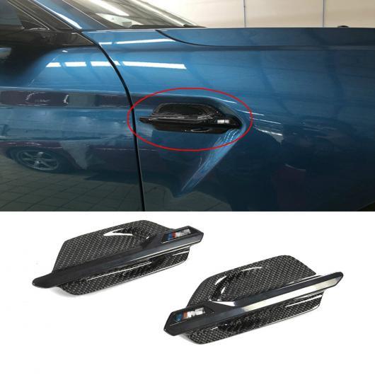 AL 車用外装パーツ カーボン サイド グリッド 適用: BMW F87 M2 カーボンファイバー フェンダー トリム カバー 2014 2015 2016 2017-UP エア ベント トリム ボディ サイド AL-DD-8624