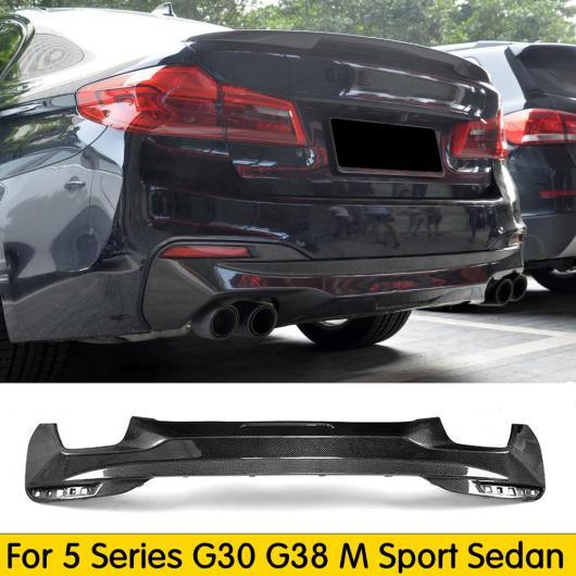 AL 車用外装パーツ カーボンファイバー リア バンパー ディフューザー 適用: BMW 5-シリーズ G30 G38 540i Mスポーツ セダン 2017 2018 2019 AL-DD-8625