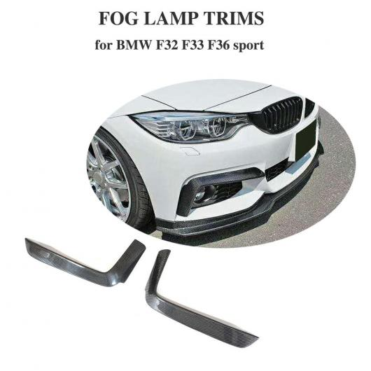 AL 車用外装パーツ 適用: BMW 4 シリーズ F32 F33 F36 カーボンファイバー フロント バンパー トリム フォグ ライト カバー フォグ ランプ トリム 2014-2019 Mテック Mスポーツ AL-DD-8683