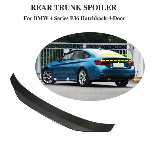 AL 車用外装パーツ 適用: F36 グランクーペ 4ドア カーボンファイバー リア トランク スポイラー ウイング 適用: BMW F36 2013-2018 AL-DD-8691