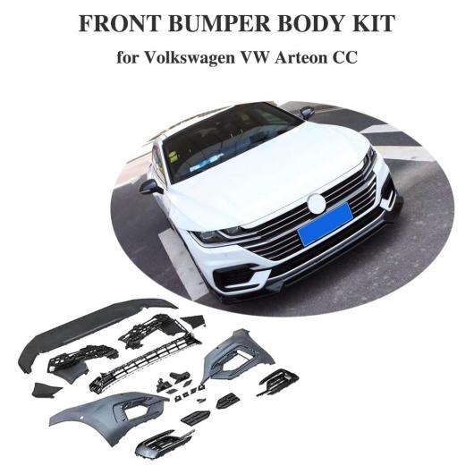 AL 車用外装パーツ PP フロント バンパー リップ ボディ キット 適用: VW CC アルテオン 2019 2020 フロント バンパー リップ スポイラー ボディ キットS AL-DD-8701