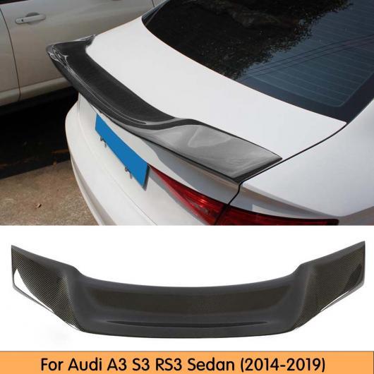 AL 車用外装パーツ 適用: A3 カーボンファイバー トランク メンバー リア スポイラー ウイング 適用: アウディ A3 S3 RS3 セダン 2014-2019 AL-DD-8713