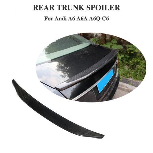 AL 車用外装パーツ 適用: アウディ A6 スポイラー C6 カーボンファイバー リア スポイラー トランク メンバー ブート リップ ウイング 装飾 2005-2011 AL-DD-8731