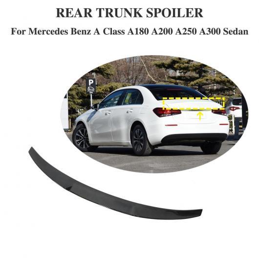 AL 車用外装パーツ カーボン スポイラー 適用: メルセデスベンツ W177 A180 A200 A250 Aクラス セダン リア トランク スポイラー ウイング スタイリング 2018 2019 AL-DD-8744